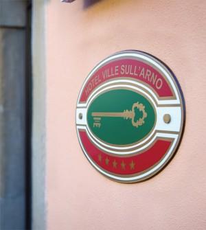 Placa de clasificación hotelera para Italia