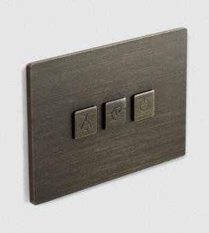 Placa eléctrica de pared con botones
