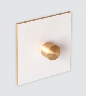 Placa interruptor blanca con atenuador