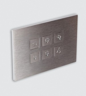 Placas eléctricas en acero inoxidable con botones