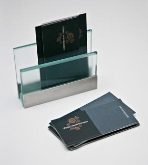 Portatarjetas de vidrio