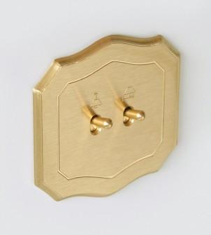 Placa eléctrica forma barroca con manecilla