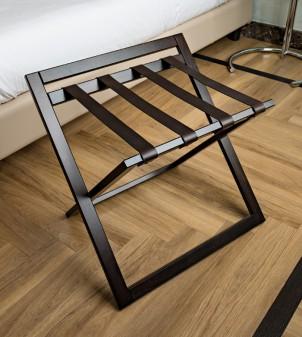 Reposamaleta de madera plegable para hotel