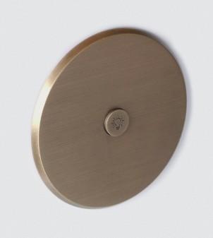 Placa eléctrica redonda en latón