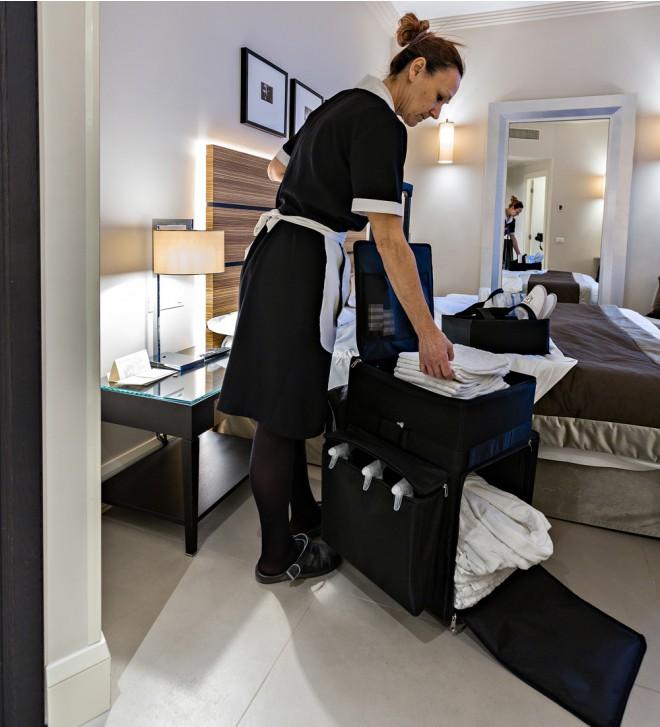 Carro limpieza de hotel