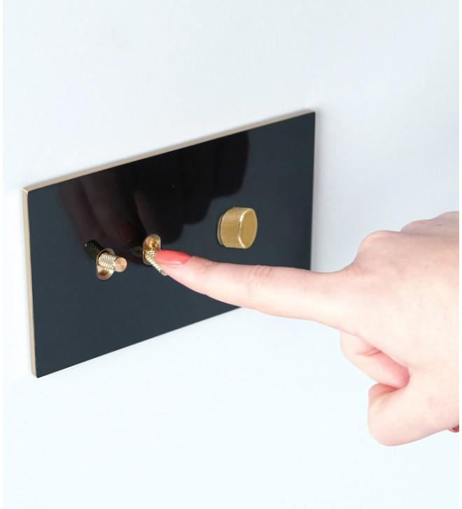 Mecanismo con interruptor con manecilla y atenuador