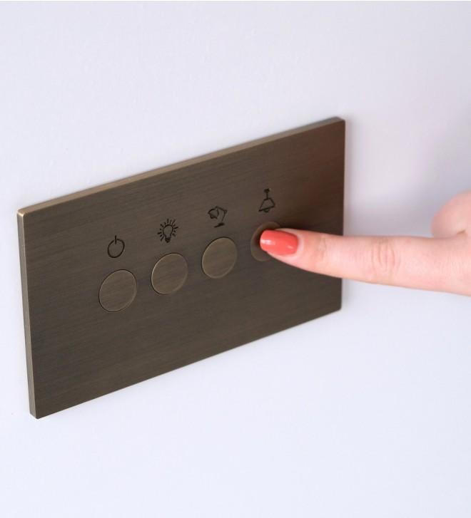 Mecanismo con botones redondos