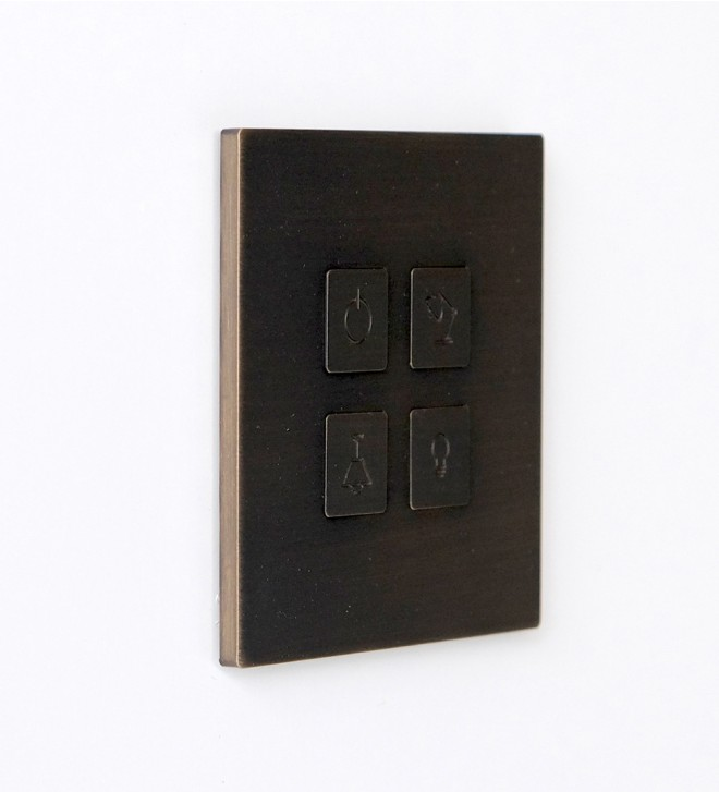 Placas interruptores de diseño con tomas