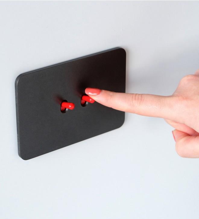 Mecanismo a ras de la pared con botones
