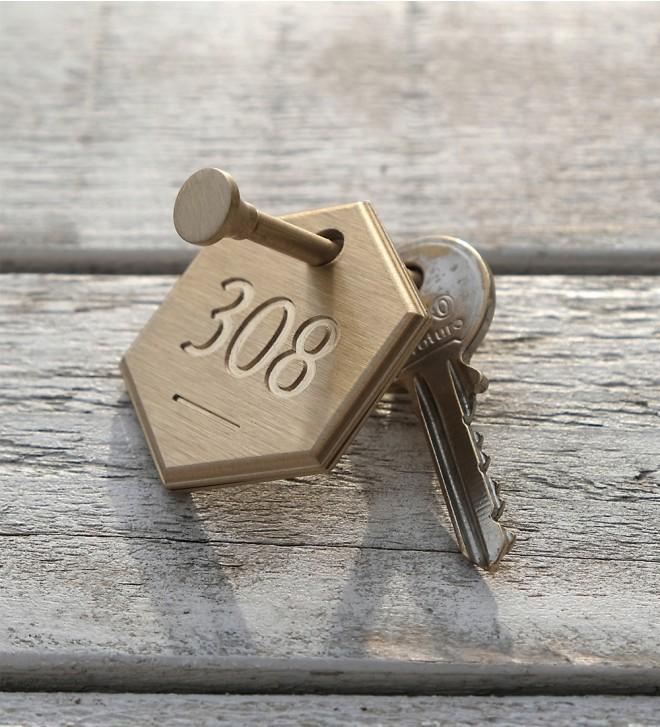 Llaveros numerados para hoteles