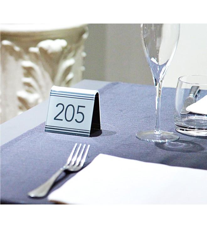 Numeradores de mesa, versión contemporánea
