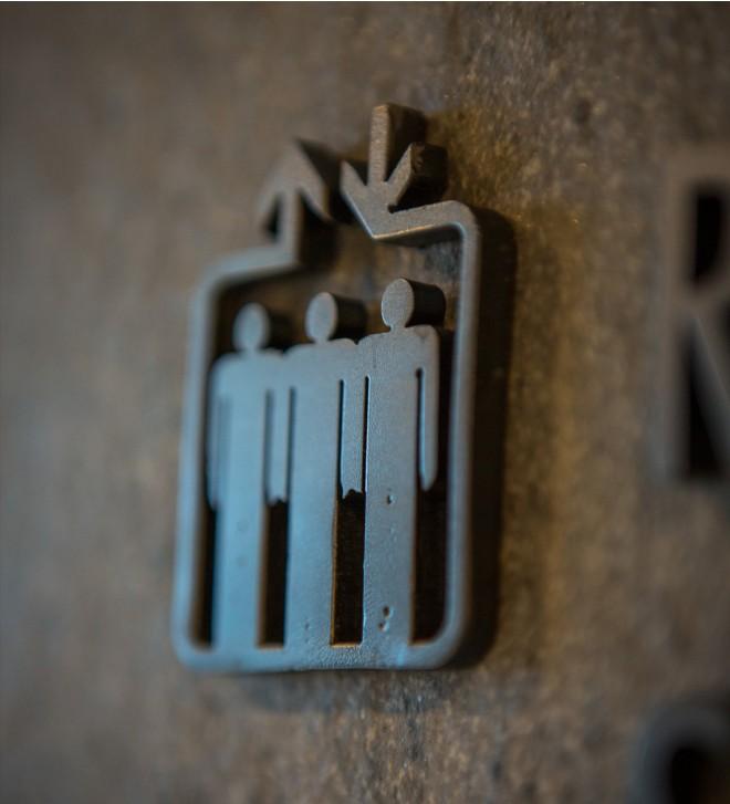 Símbolos cortados para interior
