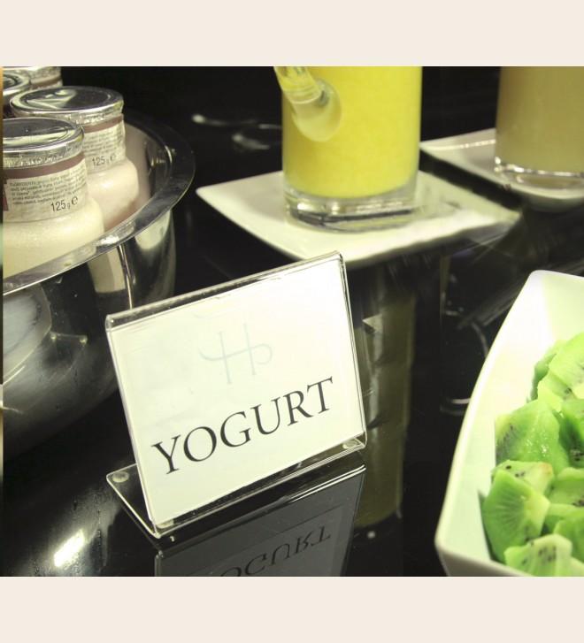 Exhibidor sobremesa para información