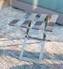 Reposamaletas plegable de metal pintado