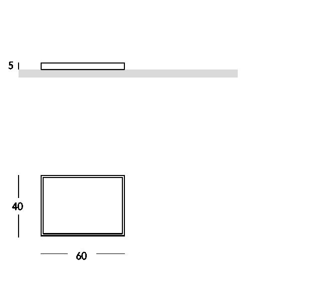 Serie de bandejas de forma rectangular con asas