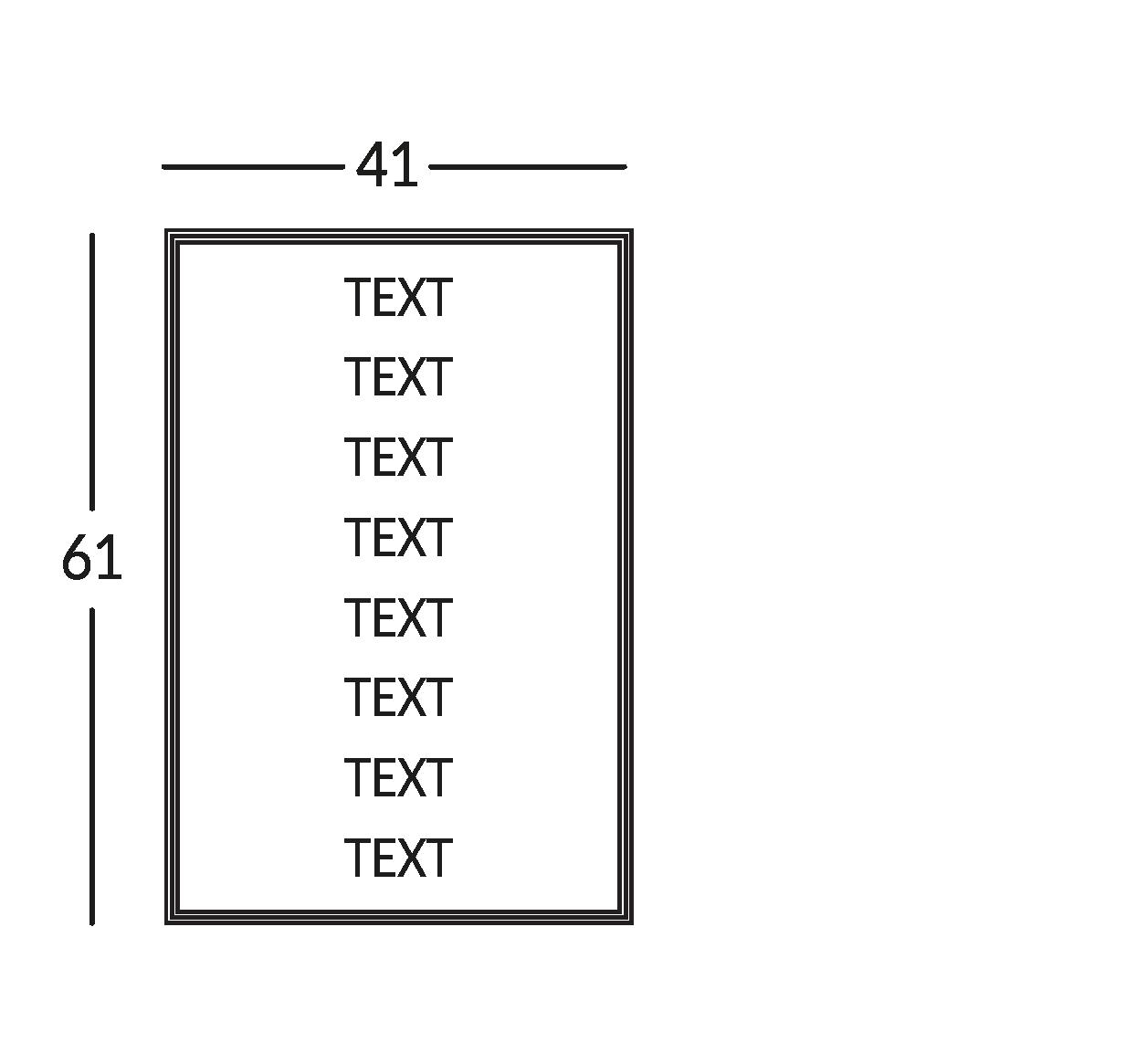 Placa con 8 líneas de texto. Línea Diva.