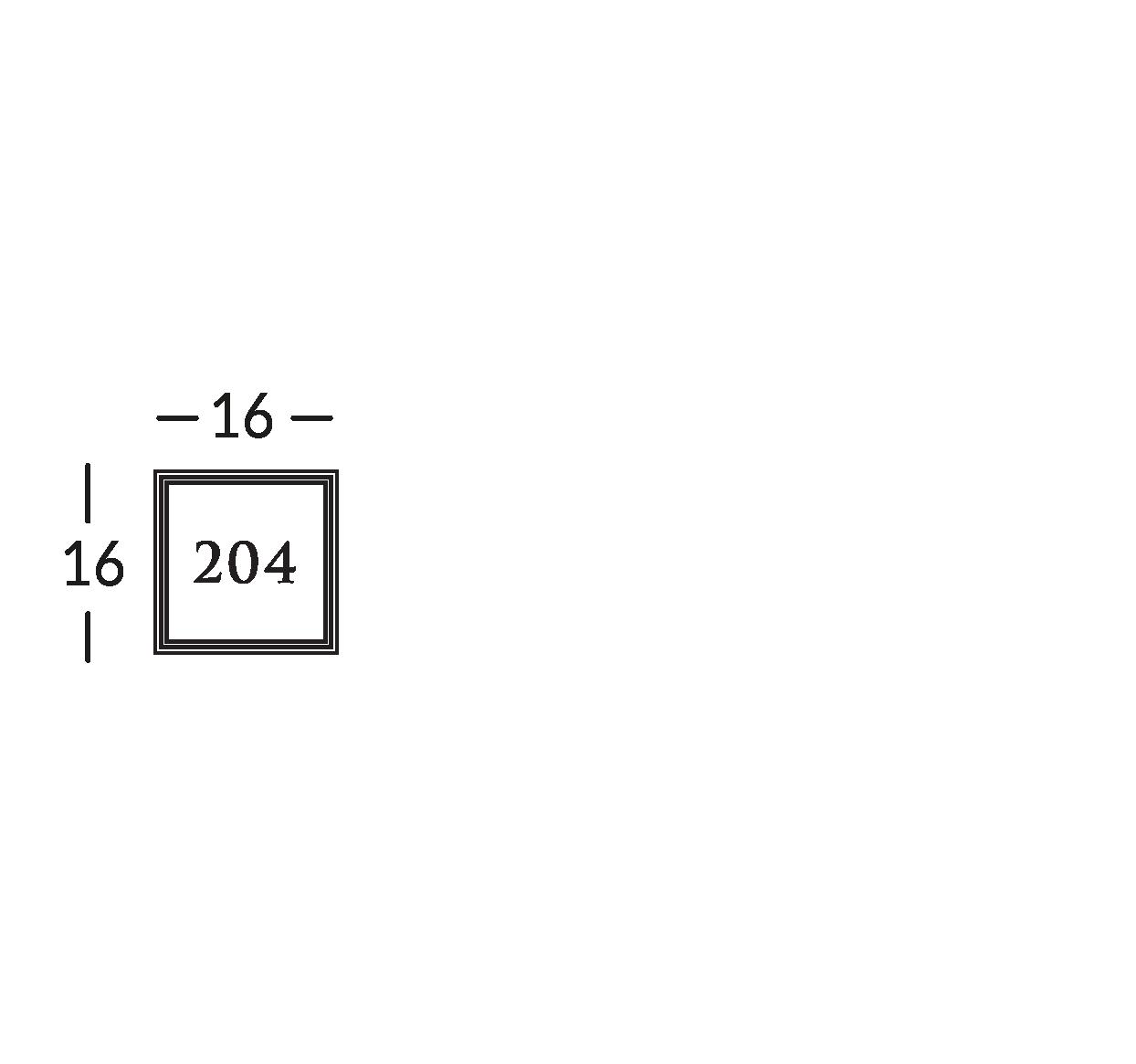 Línea de señalización de latón con grabado en bajorrelieve, sobre una base de cristal. Disponible también en metacrilato en los colores RAL o Metal Life.