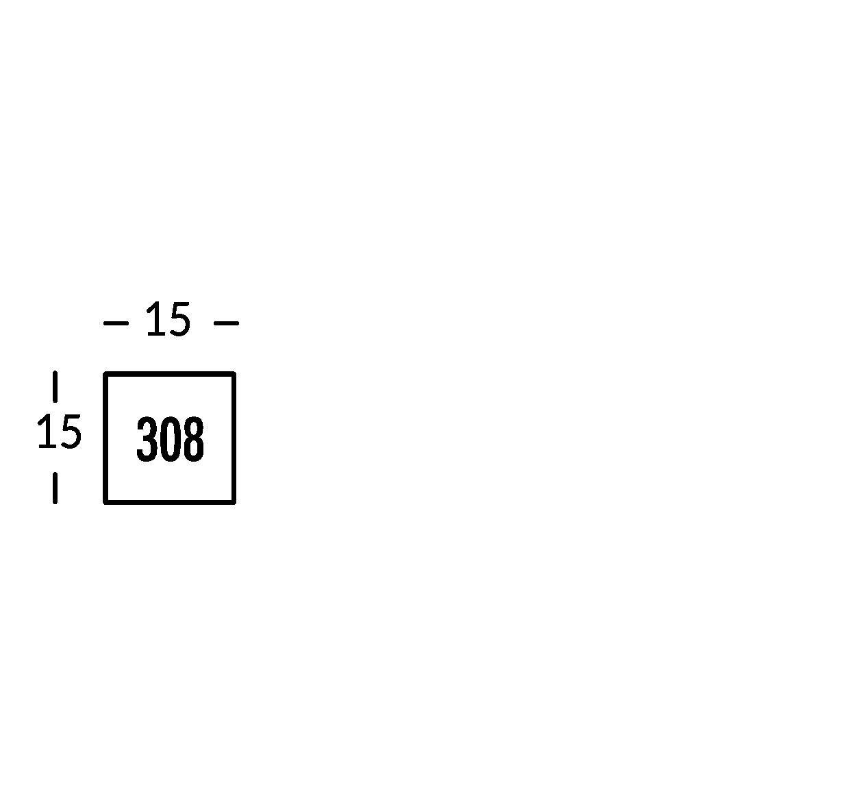 Línea de señalización en hierro negro de 2mm con letras en relieve de 5mm