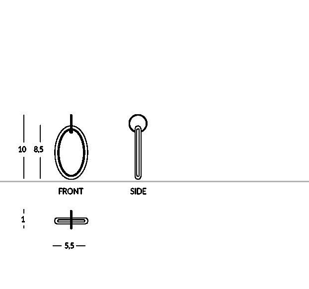 Llavero de plexiglás con color