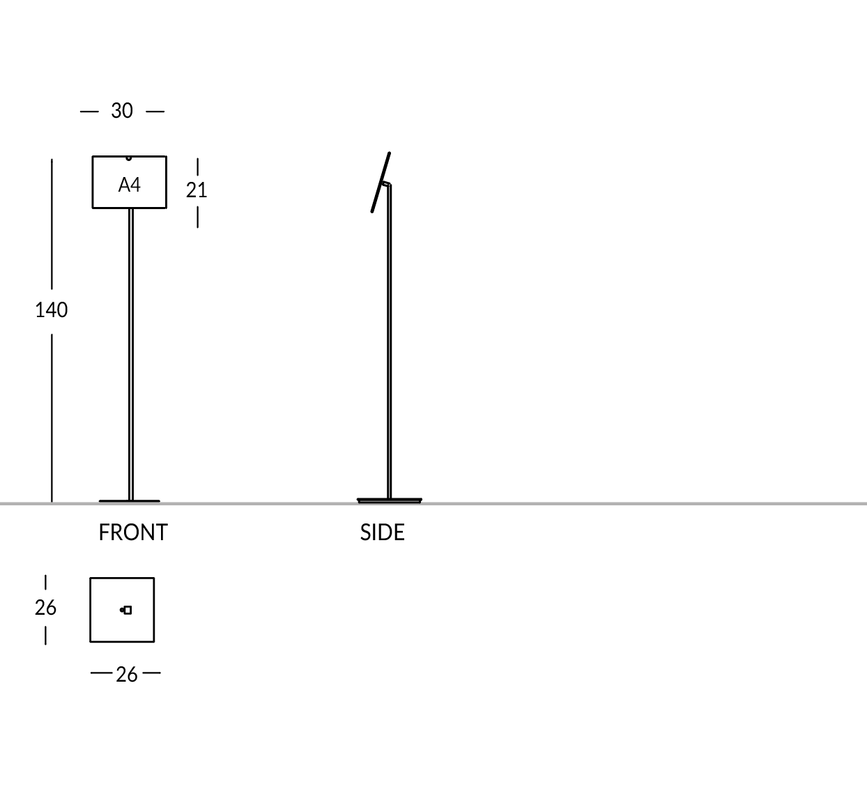 Piantana formato A4 oriz.