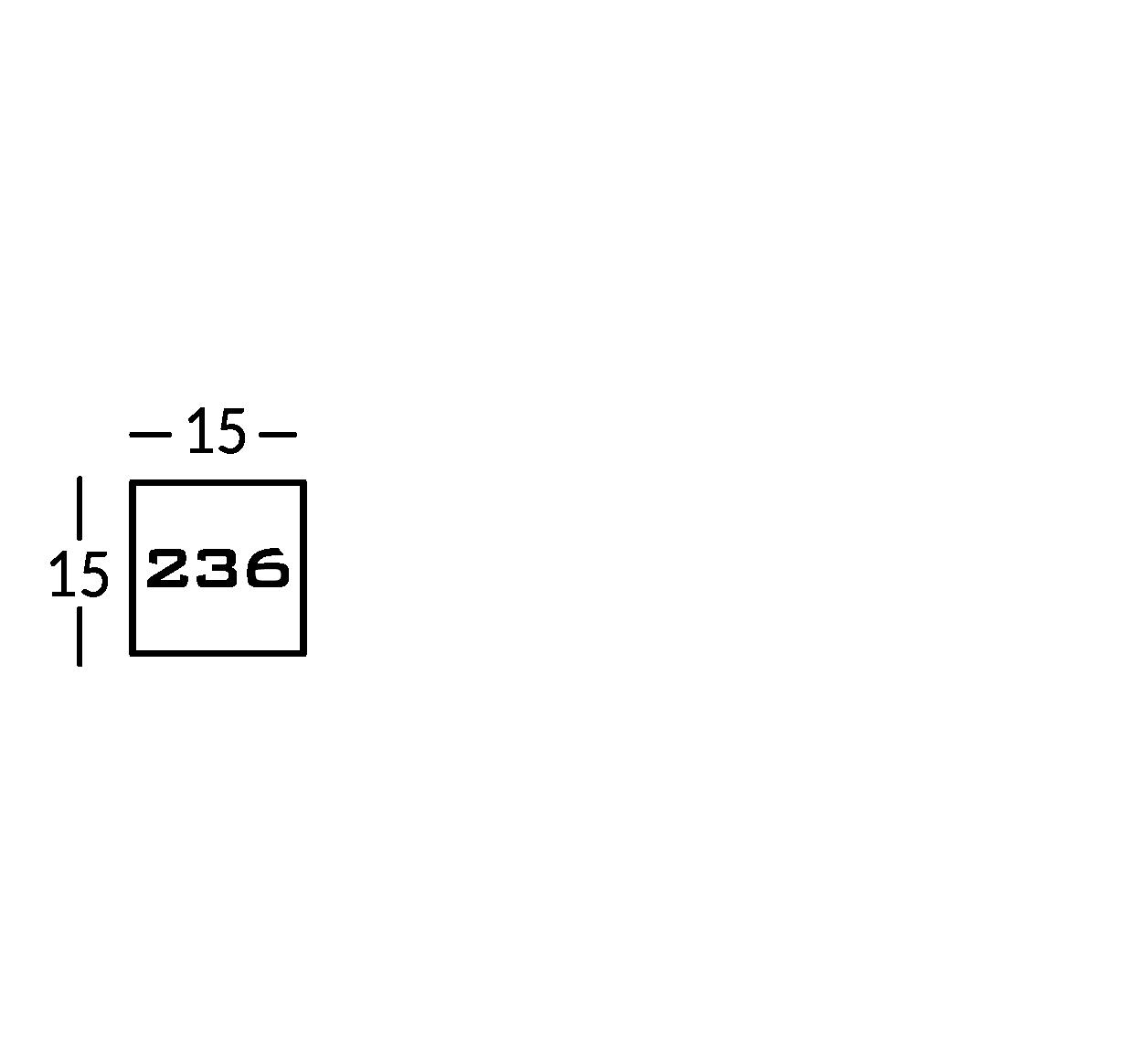 Línea de señalización en plexiglas de color, con letras de metal en relieve.