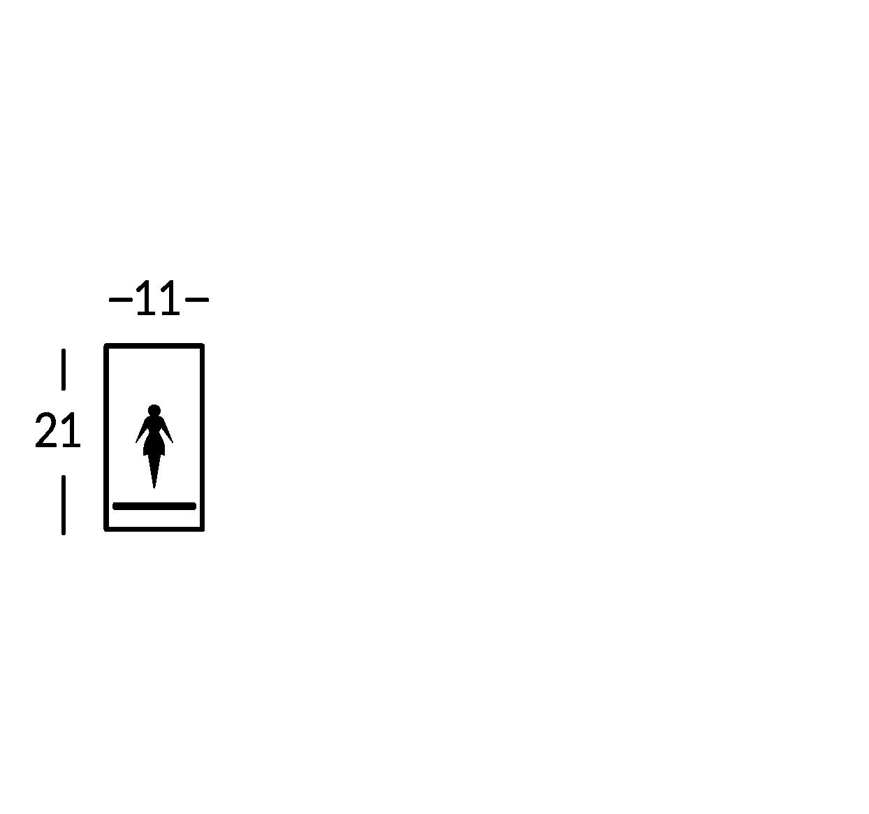 Placa con símbolo.