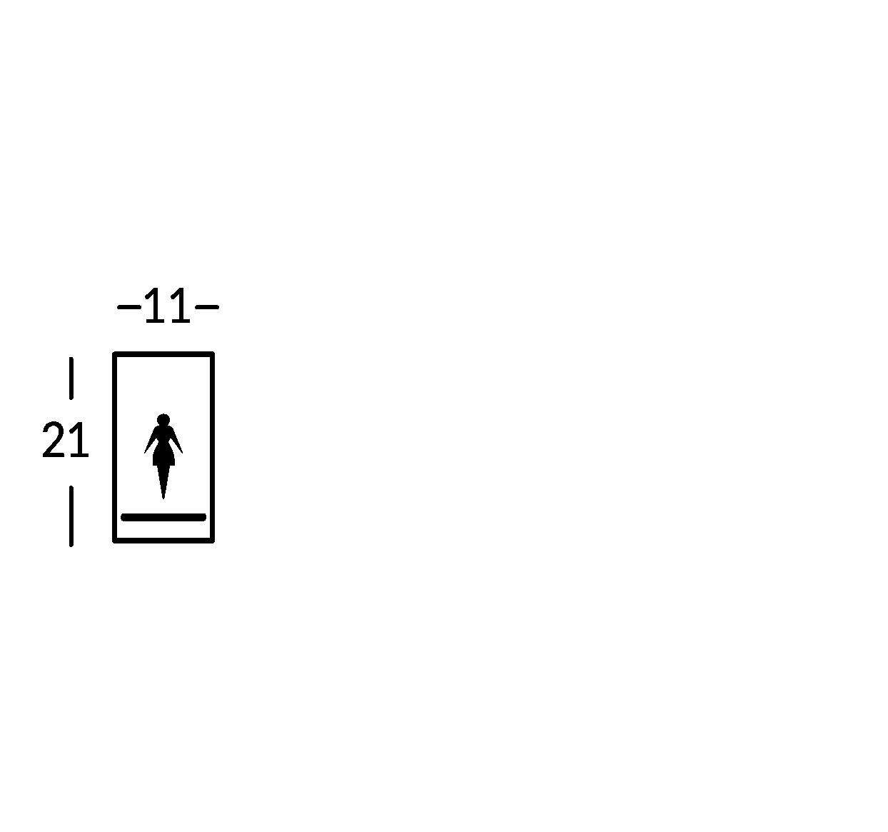 Placa con símbolo. Línea Sav.