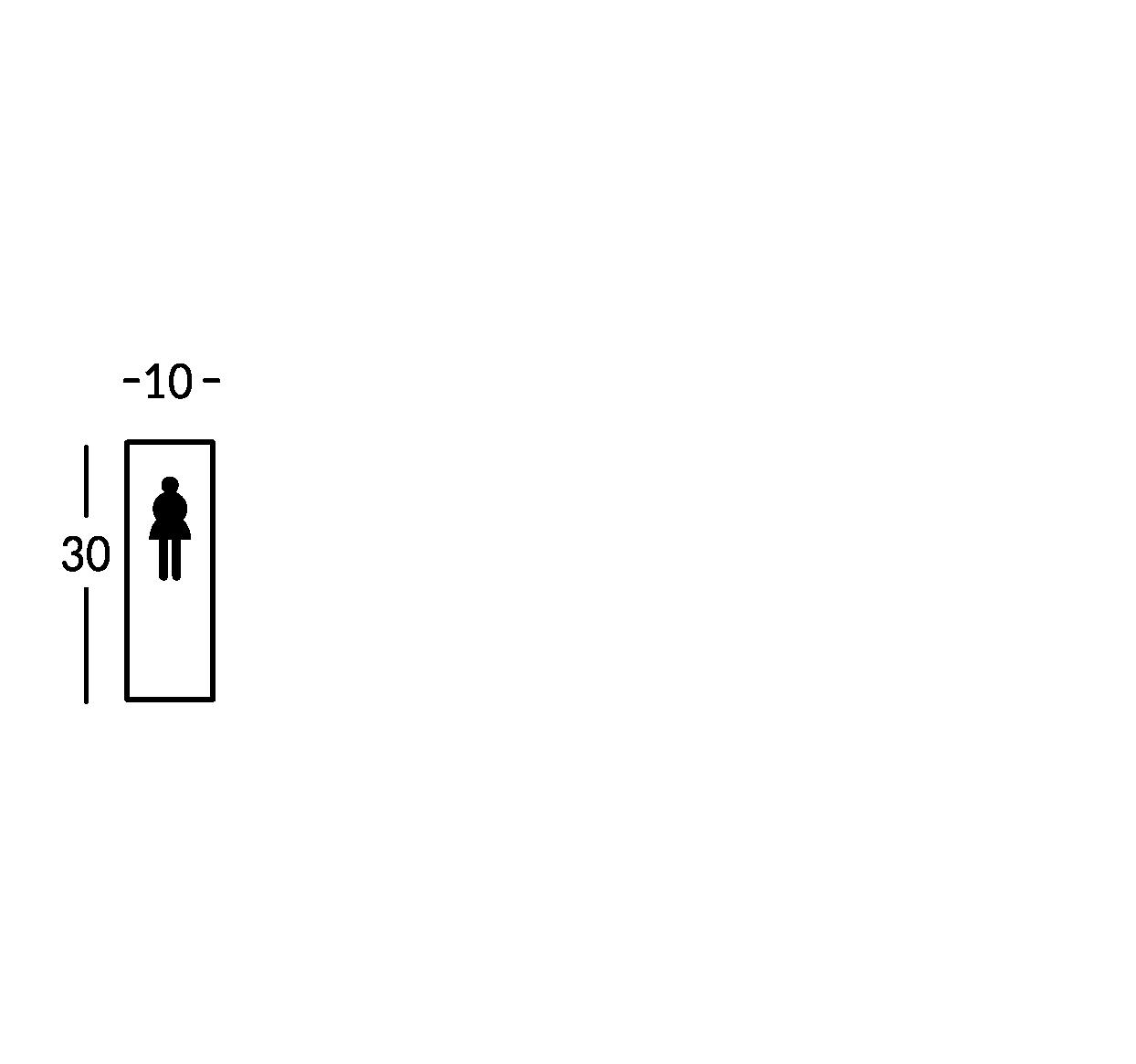 Placa con símbolo. Línea Stripe.