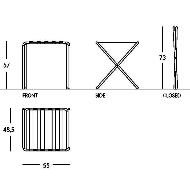 Reposamaletas con contornos metálicos circulares