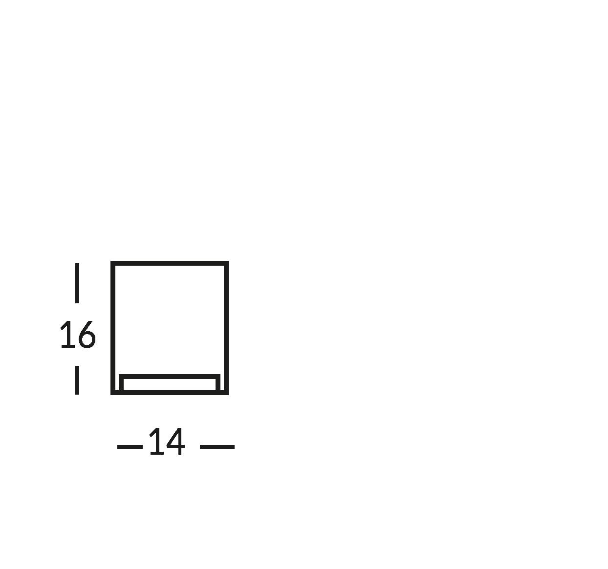 Señal impresa en cristal transparente. cm 14x16