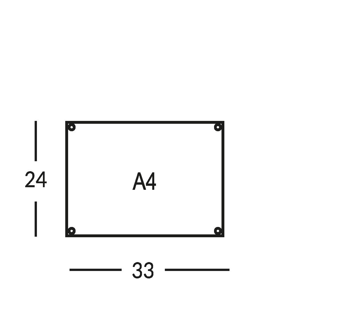 Placa soporte para mapa de seguridad, tamaño A4