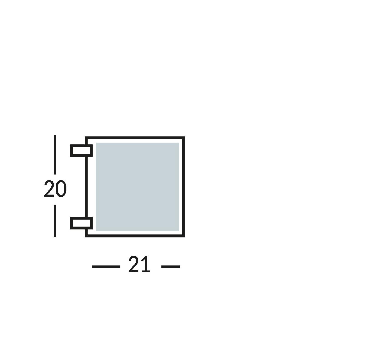 Placa con símbolo para normas de seguridad y contra incendios de dos caras. Distancia máxima de lectura 10 m.
