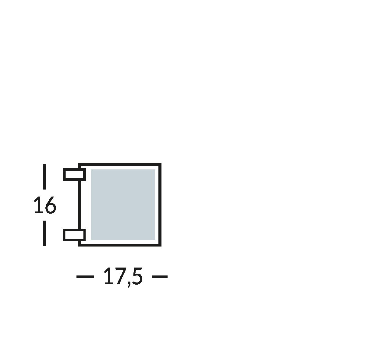 Placa con símbolo para normas de seguridad y contra incendios de dos caras. Distancia máxima de lectura 6 m.