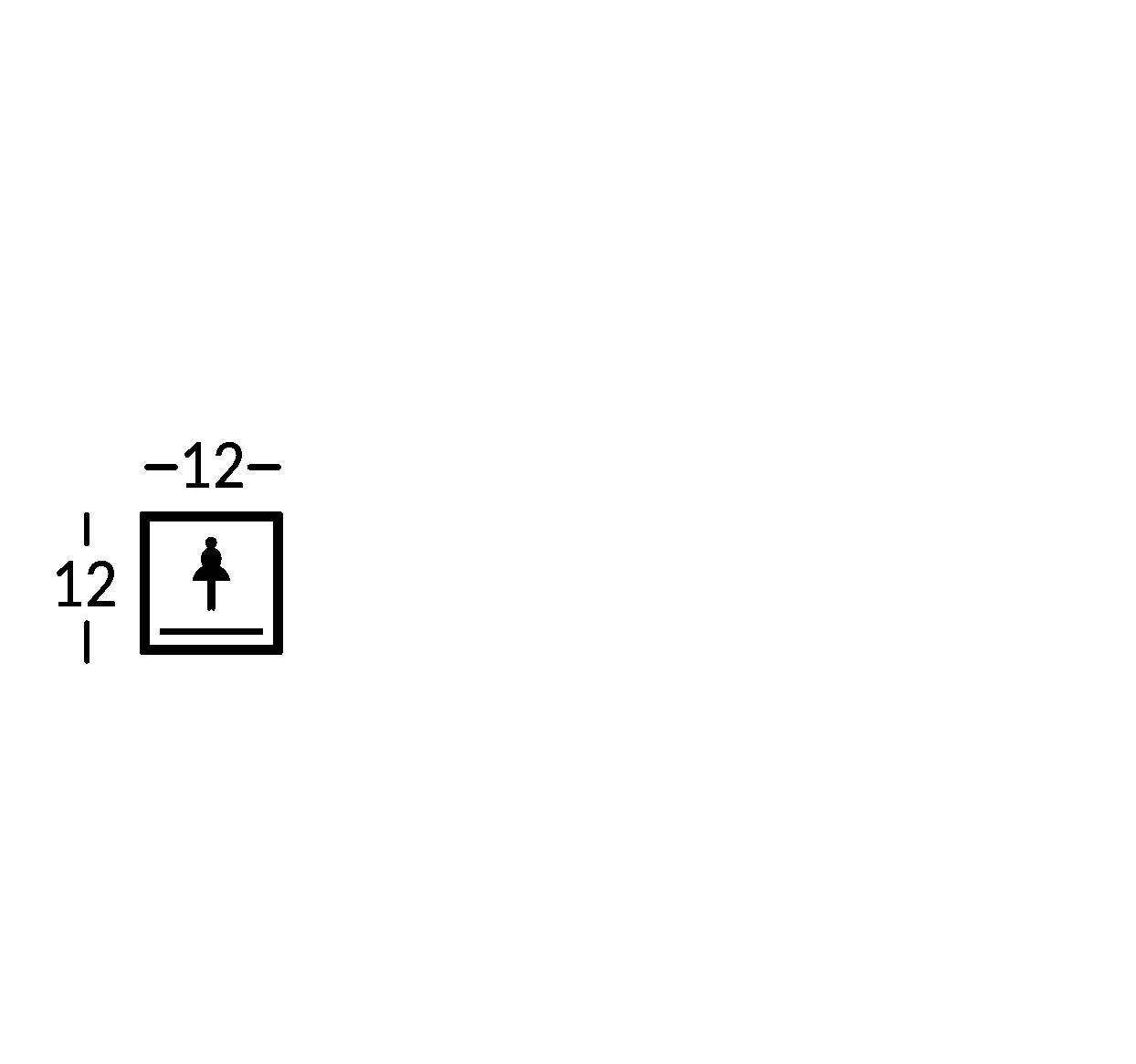 Placa con símbolo. Línea York.